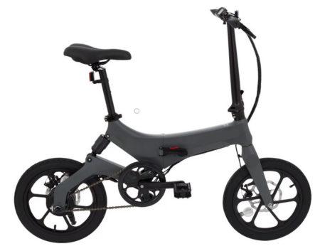 Bicicleta Eléctrica Plegable Gris