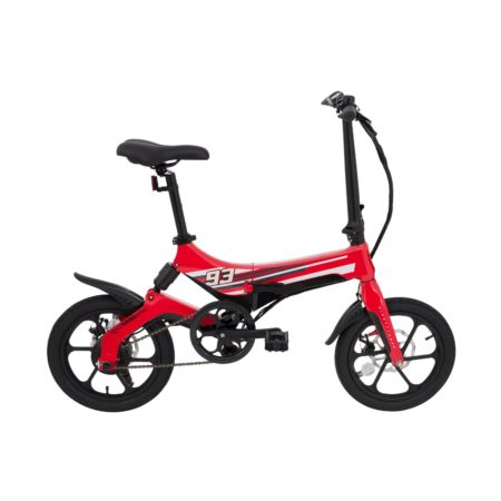 Bicicleta Eléctrica Plegable Rojo